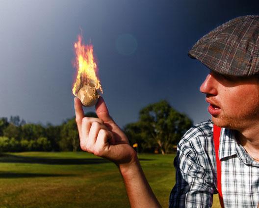 Огонь в руке
