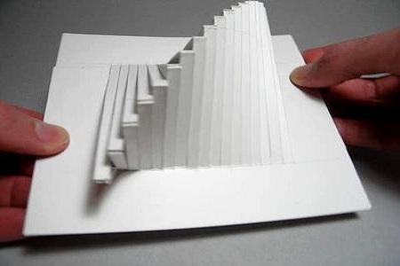 Пирамидка из бумаги